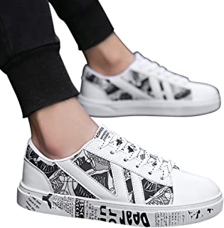 FidgetGear Men Outdoor Breathable Canvas Color Matching Casual Sneakers