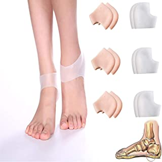 Gel Heel Cups Plantar Fasciitis Inserts Breathable Reusable Silicone Heel Cushion Sleeves Protectors Achilles Tendonitis T...