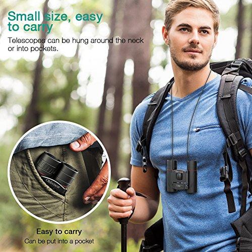 Compact Binoculars for Adults, Small Lightweight Folding HD Binocular for Bird Watching Theater Opera Traveling, Professional 10X22 Mini Binoculars Easy Focus for Adults and Kids.