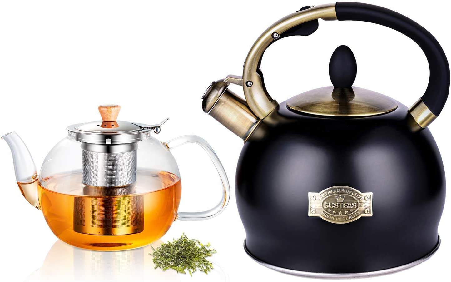 SUSTEAS 2.64 Quart Stove Max 65% Max 68% OFF OFF Top Whistling Ounces Tea Kettle 40 and
