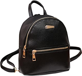 Sumen Women Leather Backpack School Rucksack Shoulder Satchel Mini Bag