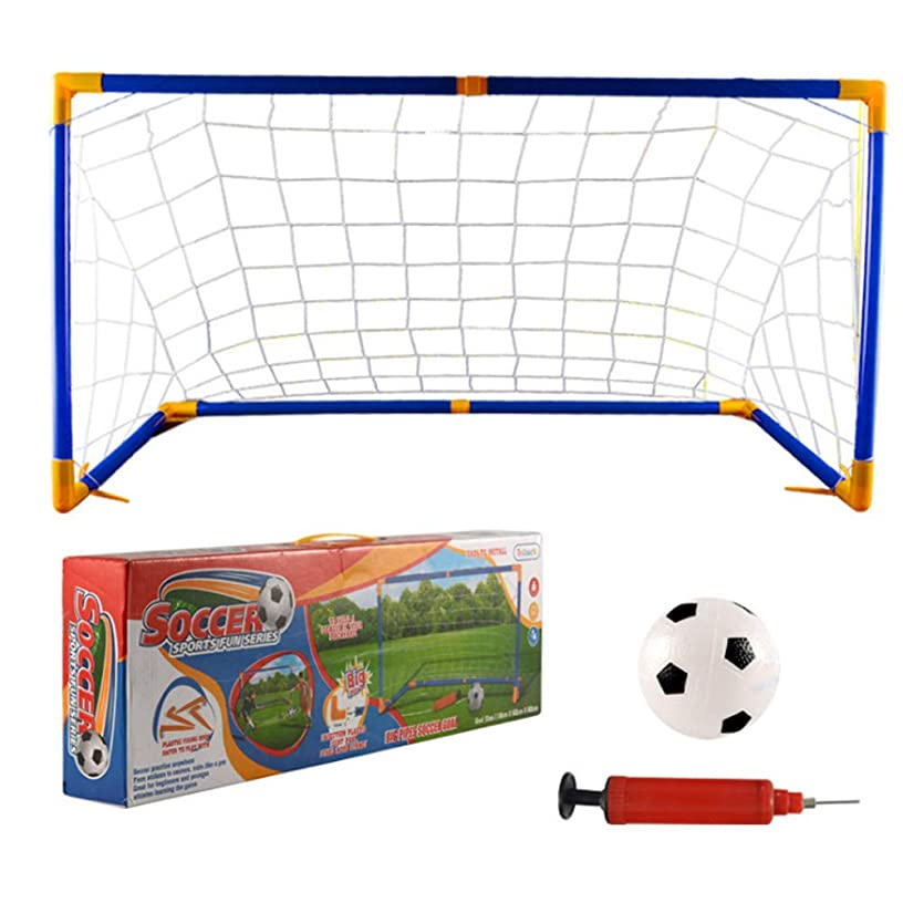 Alelife Outdoor Play Football Premium Portable Soccer Goal Set Endless Fun and Game Time Indoor and Outdoor