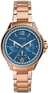 ساعة فوسيل سادي متعددة الوظائف لون ذهبي وردي ستانلس ستيل ES4928