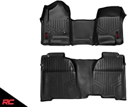 Rough Country Floor Liners Compatible w/ 2014-2018 Chevy Silverado GMC Sierra Crew Cab Full Console 1st 2nd Row M-21143