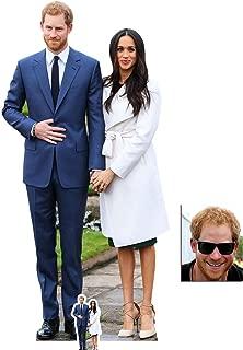 BundleZ-4-FanZ Fan Packs Commemorative Pack - Prince Harry & Meghan Markle Royal Wedding 2018 Engagement Lifesize and Tabletop Cardboard Cutout/Standup - Includes 8x10 Star Photo