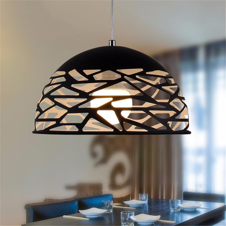 WoOnew Hohl schmiedeeisernen Kronleuchter Wohnzimmer lndlichen Kreative Schlafzimmer Modernes, minimalistisches Restaurant, Schwarz