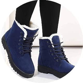 2018 Heels Winter Boots Women Ankle Boots Women Shoes Warm Fur Plush Insole Boots