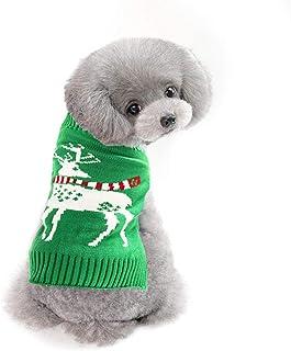 Delifur Dog Ugly Christmas Sweater Dog Reindeer Sweater Reindeer Ugly Christmas Sweater for Cat Puppy & Small Medium Dog