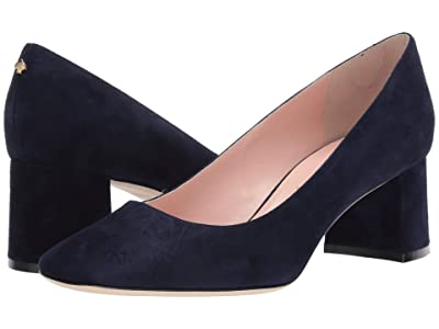 Kate Spade New York Kylah Block Heel Pump (Navy Suede) High Heels