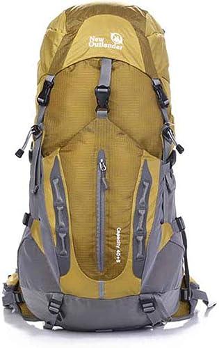 ArougeOVL Nylon répulsif Escalade Voyage Camping Randonnée Sentier Loisirs Sacs à Dos Multifonctionnel épaules Bagages Ordinateur Sac Neutre Convient à L'extérieur (Couleur   jaune)