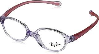 RAYBAN JUNIOR 儿童 1587 0RY 1587 3765 39 矩形光学镜架 39,透明浅紫色