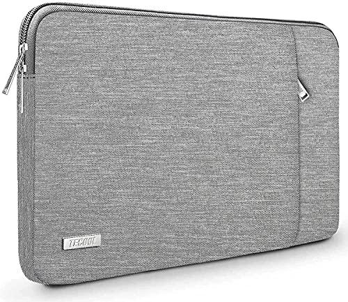 TECOOL Funda Portátil de 14 Pulgadas, Bolso Protectora Acolchada Funda Blanda para 14'' Lenovo HP Acer ASUS DELL Ordenador Tablets y MacBook Pro 15 (2016-2019), 15'' Surface Laptop 3, Gris