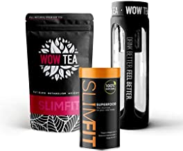 Superslim Me Premium Slimming Food with 9 Superfoods That Curb Appetite Boost Metabolism Extra Powerful Slimming Tea for Natural Weight Loss Fat Burn Black Infuser Bottle Estimated Price : £ 47,00