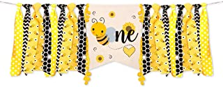 One HighChair Banner for Bumble Bee Birthday Decorations, Bee First Birthday Decorations Party Supplies High Chair Decorations for 1st Birthday - Birthday Decor for Baby Shower First Birthday Decor