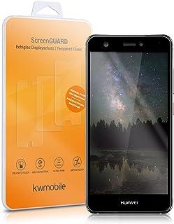 kwmobile Pellicola Protettiva in Vetro Temperato compatibile con Huawei Nova - trasparente con cornice in nero - Qualità p...
