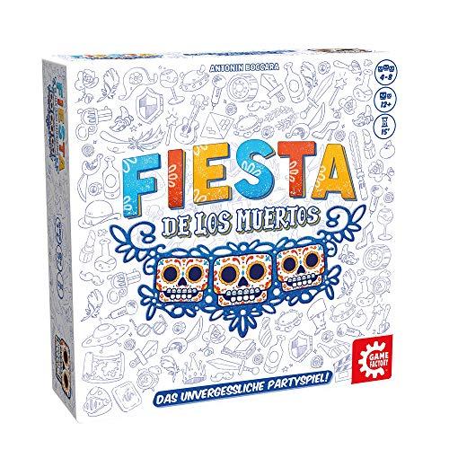 Game Factory 646279 Fiesta de los Muertos, das unvergessliche Partyspiel, kooperatives Personenraten, für 4 bis 8 Spieler, ab 12 Jahren