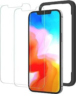 NIMASO ガラスフィルム iPhone 12用 / iPhone 12 Pro用 強化 ガラス 保護 フィルム 2枚セット ガイド枠付き