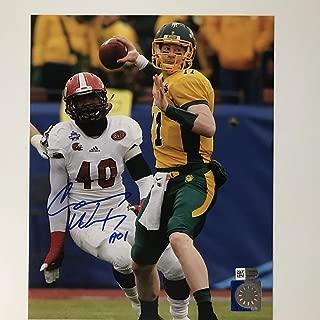 Autographed/Signed Carson Wentz North Dakota State Bison 8x10 College Football Photo Fanatics COA Holo
