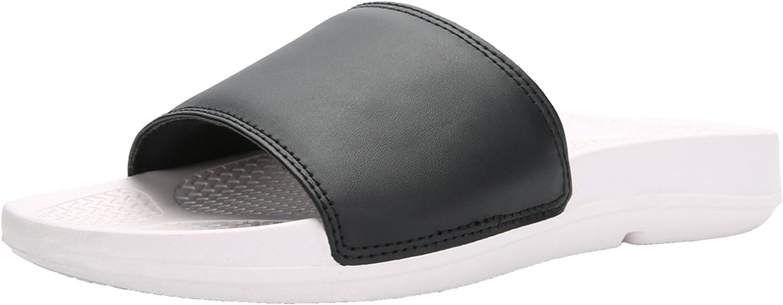 UNN Slide Sandals Men's Beach Shower Slippers Lightweight for Indoor Outdoor