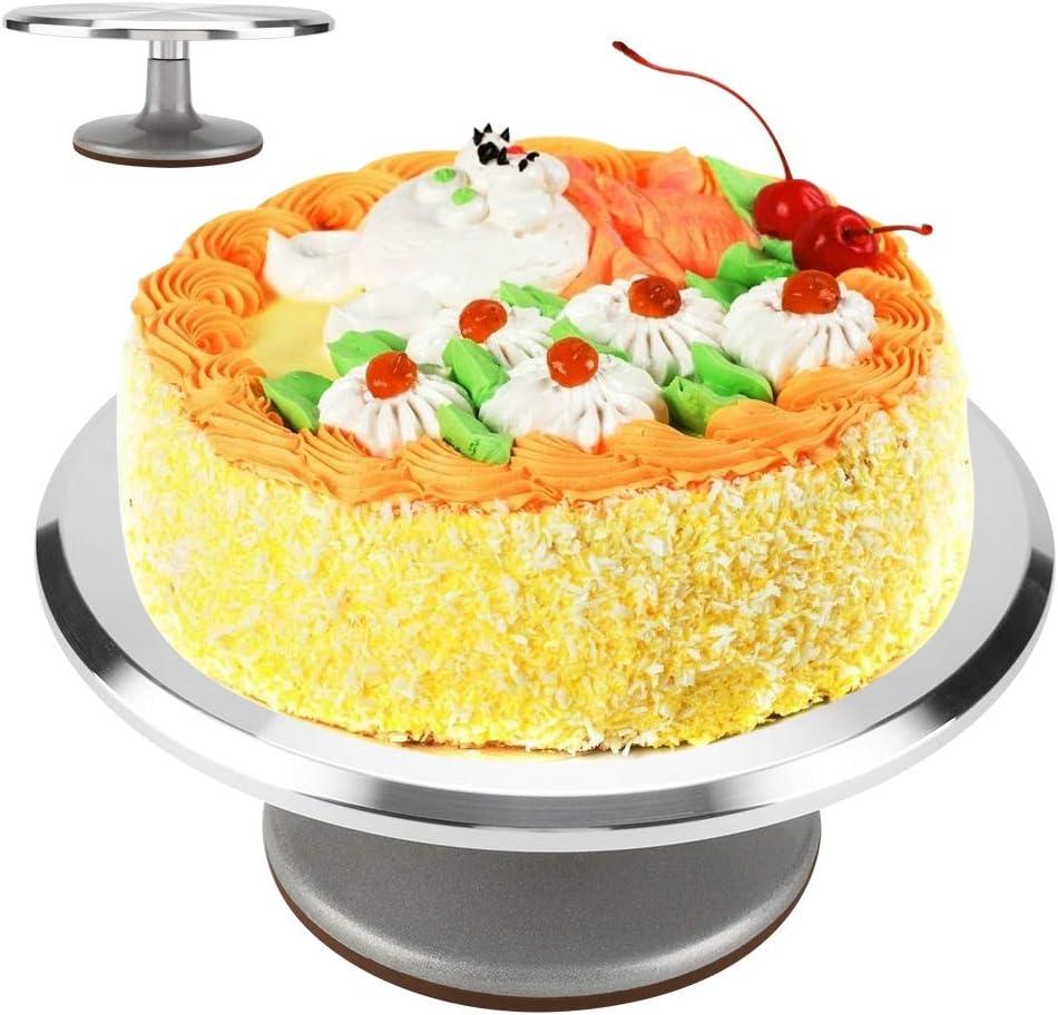 Cake Stand ご注文で当日配送 Aluminium 12inch Decorating オンライン限定商品 Revolving Turntable