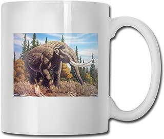 Porcelain Coffee Mug Elephant Mastodon Ceramic Cup Tea Brewing Cups for Home Office
