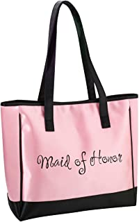 Lillian Rose Maid of Honor Tote, 13-Inch by 14-Inch, Pink