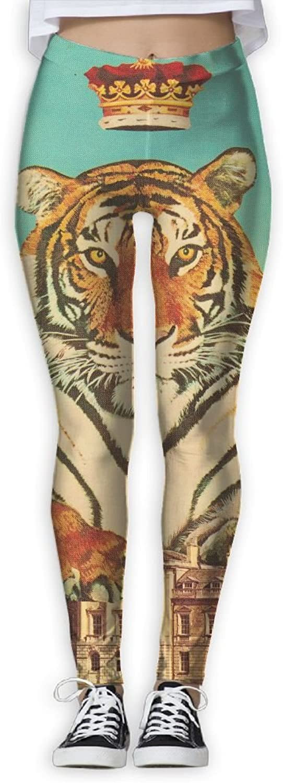 Large Tiger King Women's Printed Yoga Leggings Sport Pants Stretchy Tights Elastic
