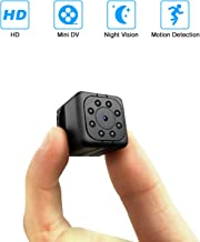 YAOAWE Spy Mini Camera HD 1080P Small Portable Wireless Home Security Surveillance Camera Nanny Cam Night Vision/Motion Detection Hidden Video Recorder Outdoor/Indoor Smallest Spy Cam