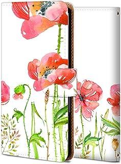 Android One S1 ケース 手帳型 アンドロイド ワン S1 カバー おしゃれ かわいい 耐衝撃 花柄 人気 純正 全機種対応 虞美人花 フラワー シンプル 19619