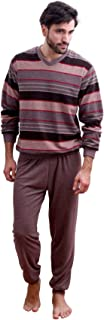 Elegante pigiama da uomo in spugna con polsini – anche in taglie forti fino a 60