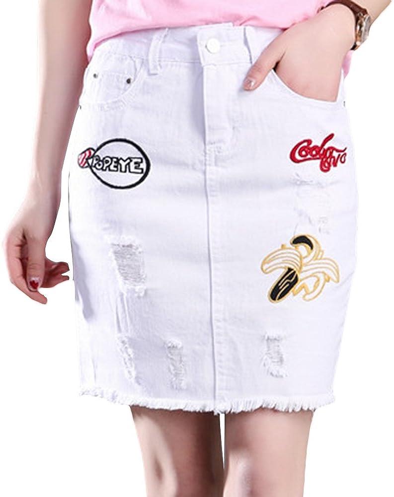 Icegrey Women's Jean Skirt Denim Mini Skirt