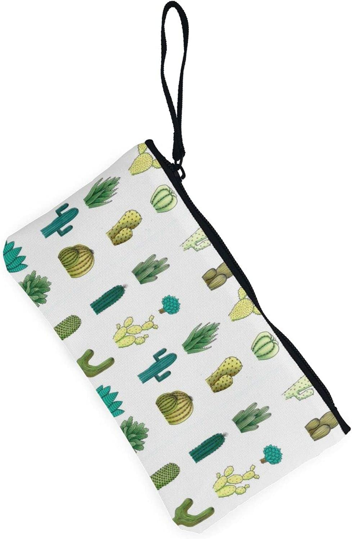 AORRUAM Desert cactus Canvas Coin Purse,Canvas Zipper Pencil Cases,Canvas Change Purse Pouch Mini Wallet Coin Bag