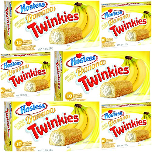Hostess Twinkies Banana x 6 Packs - 60 Cakes