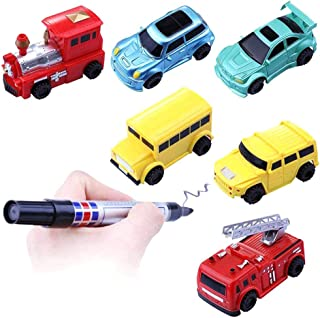 マジック車 マジックロードカー 線誘導車 電気画線誘導車 おもちゃ車 玩具車 作業車 知育玩具 電動おもちゃ マジックロードカー 子供 入園 子供プレゼント ギフト タイプとカラーランダム配送