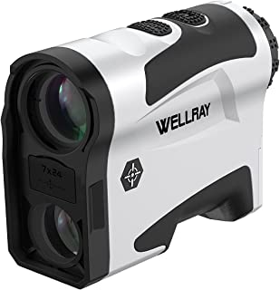 Wellray Laser Golf/Hunting Rangefinder, 7X Magnification Clear View 1000 Yards Laser Range Finder, Accurate, Slope Function,Flag-Lock & Vibration