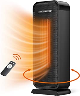 TaoTronics Space Heater, 1500W Electric Heater Small Portable Fast Heating Heater, Widespread Oscillation ECO Mode 12 Hrs Timer with Remote Control Programmable Thermostat for Indoor Use