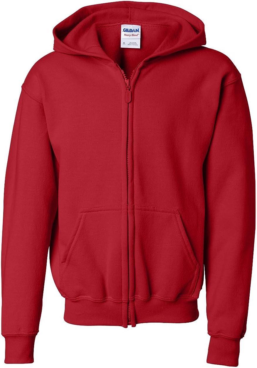 Heavy Blend Full Zip Hooded Sweatshirt (G186B) Red, S (Pack of 12)