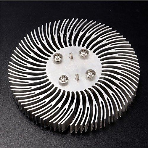 EsportsMJJ 90 x 10 mm ronde aluminium spiraal radiator voor 10 W krachtige LED