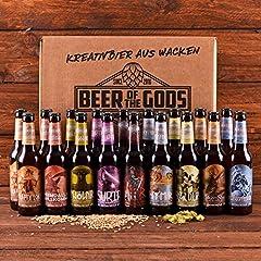 Wacken Brauerei Göttergabe | Pack de regalo de cervezas caseras | 18 Cervezas de los dioses (de 0,33 l cada una)