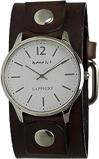 [ネメシス] Nemesis 腕時計 Women's 'Sapphire' Quartz Stainless Steel and Leather Casual Watch, Color:Brown 日本製クォーツ DGB252W レディース 【並行輸入品】