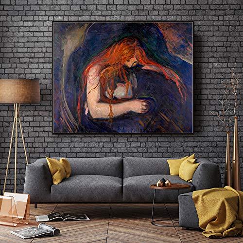 1000 pezzi di puzzle di gioco noioso 75x50cmVampire di Edvard Munch The Museum of Modern Art Copy Art Poster Puzzle a tema familiare, puzzle di cartone, giochi educativi, giochi per bambini e ragazzi