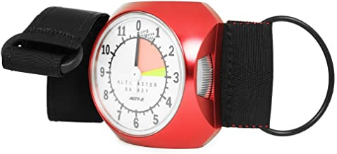 Alti-2 Altimaster III Galaxy Analog Skydiving Altimeter Glow Face Feet (Red)