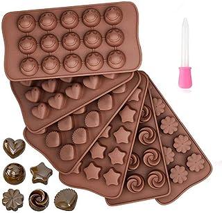 Queta 6 Pcs Moules à Gâteaux en Silicone Moules de Cuisson pour Chocolat Bonbons Outil de Cuisson Bricolage pour Biscuits ...