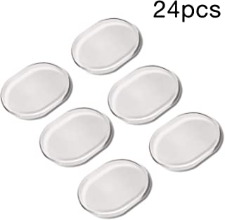 AIEX 24 Pieces Drum Dampeners Drum Damper Gel Pads Silicone Non-toxic Soft Clear Drum Silencers Drum Mute for Drums Tone Control