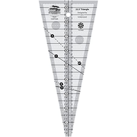 Creative Grids 10 Degree Wedge Quilting Ruler CGRCP1