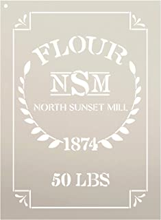 Feed Sack Art Stencil by StudioR12 - North Sunset Mill Flour | Reusable Mylar Template | Use to Paint Wood Signs - Fabric ...