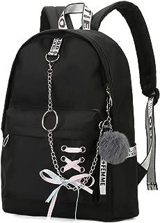 Sac /à Dos Femme et Fille en Dylon Cartable Backpack Gar/çons /école imperm/éable pour Scolaire Ecole Quotidien Loisir Bureau Voyage Noir