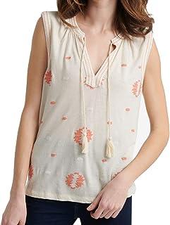 Lucky Brand Women's Printed Aztec Tank Top Shirt