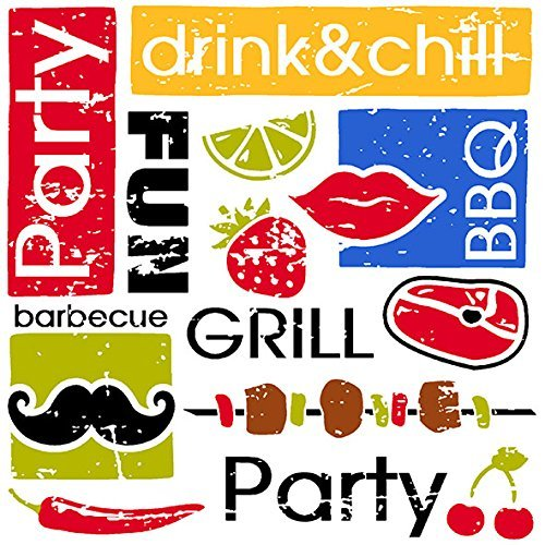 Ambiente servetten lunch/party ca. 33 x 33 cm zomerparty/grill.