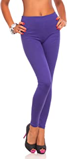 FUTURO FASHION Damen Leggings aus Baumwolle - knöchellang - weich - Übergrößen
